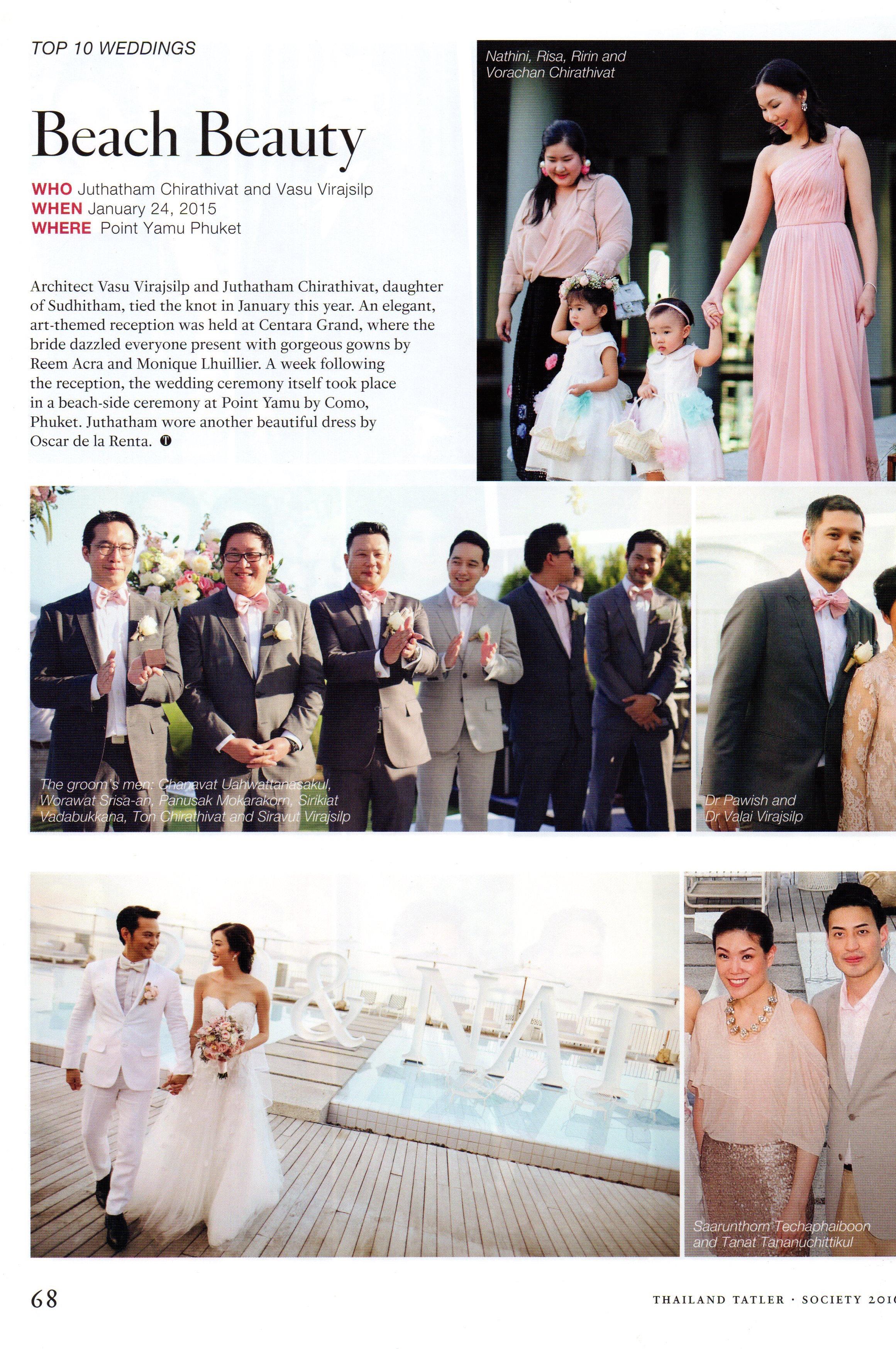 Thailand Tatler 3 - The Wedding Bliss Thailand